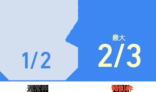 通常枠1/2・特別枠2/3